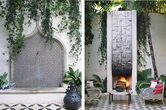 One of my all time favorite outdoor fireplaces by Commune Design (and the fountain ain't bad either).