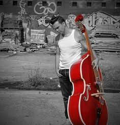 rockabilly, love that red base!