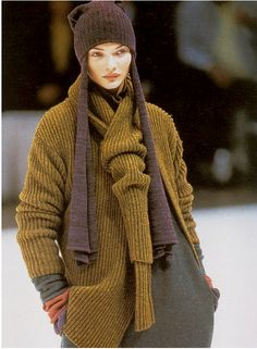 Yohji Yamamoto F/W 96.97 The jacket is OK, but the collar would be a great idea for a scarf!  From store.dknits.com
