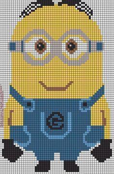 Diy Crafts - Alpha friendship bracelet pattern 11306 added by minion despicable me cartoon minions. Minion Crochet Patterns, Minion Pattern, Cross Stitching, Cross Stitch Embroidery, Cross Stitch Patterns, Cross Stitch For Kids, Cross Stitch Baby, Gata Marie, Bordados E Cia