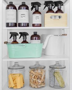 Organization made easy with Murchison-Hume. No need to hide cleaning products that look this good!
