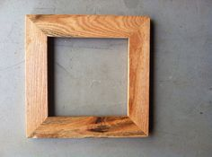 8x8 Oak Wood Picture Frame by JonesFraming on Etsy, $24.00