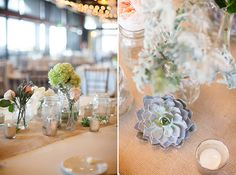 A Rustic Peach and Mint Wedding