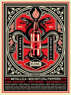 ORIN PRINT by Obey Giant