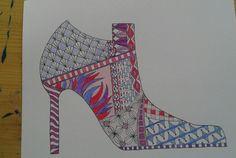 My Zentangle shoe
