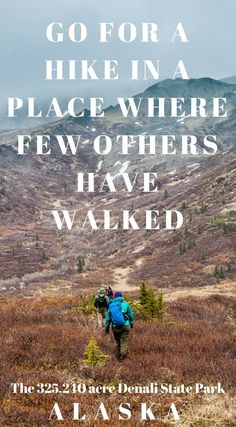 Go for a hike in a place where few others have walked. The 325.210 acre Denali State Park Alaska. Click to read about this must do adventure in Alaska. https://www.divergenttravelers.com/heli-hiking-denali-state-park-alaska/ #Alaska #Travel #Hiking #Denali
