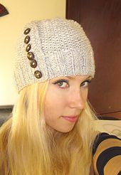 Free pattern on Ravelry: Button up Hat pattern by Ines Bolf