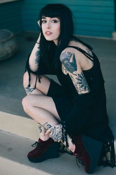 fashion heels tattoos inked tattoo ink hand tattoo inked up hand tattoos girls with tattoos tattooed girls leg tattoo hannah snowdon hannah ...