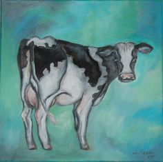"""Cow"" by Anna Strøm Original painting, animals painting, cow painting, modern art, farm, wall decor, cow Modern Art, Contemporary Art, Cow Painting, Decorating With Pictures, Animal Paintings, Moose Art, Original Paintings, Anna, Wall Decor"