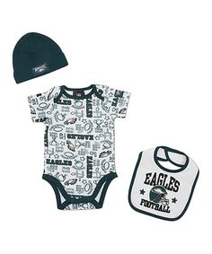 Take a look at this White Philadelphia Eagles Layette Set - Infant by NFL  on   3d7d3da10