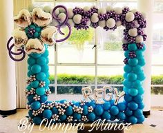 Balloon Columns, Balloon Bouquet, Balloon Decorations, Hanukkah, Picture Frames, Backdrops, Wreaths, Babyshower, Pictures