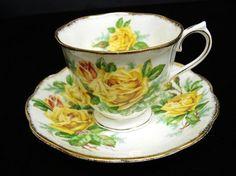Royal Albert China Cup  and Saucer  Tea  Rose  Yellow ♥ by lasadana, $28.99