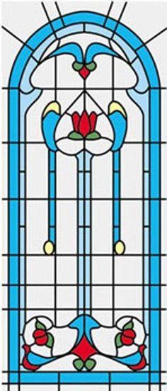 Dollhouse 1/12 Scale Classics Simulated Leadlight Stained Glass Window Insert 02 #InternationalMiniaturesbyClassics