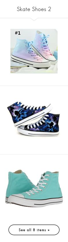 """""""Skate Shoes 2"""" by royally-eridan ❤ liked on Polyvore featuring shoes, animal shoes, sneakers, converse, blue, footwear, women, converse sneakers, high top trainers and star shoes"""