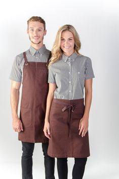 100% cotton canvas apron in store / Embroidery logo / Uniforms / Coffee shop / Activ Embroidery Designs / activembroidery.com.au