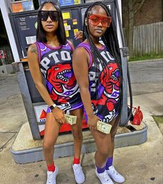 Swag Outfits For Girls, Cute Swag Outfits, Twin Outfits, Dope Outfits, Girl Outfits, Fashion Outfits, School Outfits, Matching Outfits Best Friend, Best Friend Outfits
