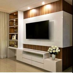 Living room tv wall decor tv shelf 19 new Ideas Tv Cabinet Design, Tv Wall Design, Tv Wanddekor, Tv Unit Furniture, Black Furniture, Modern Tv Wall Units, Tv Wall Decor, Wall Tv, Living Room Tv Unit Designs