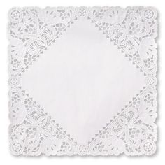 Square Lace Paper 10-inch Doilies, White $17.89/100 .. Could make your own lace envelopes
