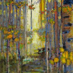 Backlit Forest | oil on canvas | 32 x 32"