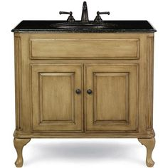 "Cole & Co. 37"" Custom Collection Large Classic Vanity - Parchment List Price $1,995.00 Your Price $1,496.25  Light Wood; Countertop color choices-Natural Stone-37""W x 22""D x 35-1/4""H  Countertop-37""W x 22""D x 3/4""H  Sink Choices:  Sink White - 19""W x 16""D x 6""H; Hampton Sink Biscuit - 19""W x 16""D x 6""H; Hampton Sink Hammered - 19""W x 16""D x 6""; Hampton Sink Scalloped - 19""W x 16""D x 6""H"