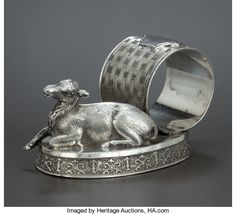 A CANADIAN SILVER PLATED NAPKIN RING . Toronto Silver   Lot #68148   Heritage Auctions
