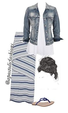 """Apostolic Fashions #717"" by apostolicfashions ❤ liked on Polyvore featuring Studio M, Fresh Laundry, Silver Jeans Co. and Corso Como"