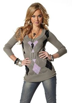 Melrose Longpullover in grau Peplum, Hoodies, Sweaters, Shopping, Tops, Women, Style, Fashion, Sequins