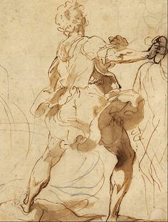 Federico Barocci (1535–1612)    Details of artist on Google Art Project Title	Stone-thrower for the Martyrdom of St Vitalis Object type	draw...