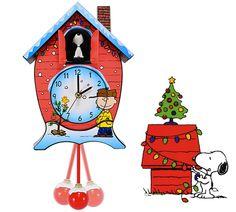 CUCKOO CLOCK PEANUTS CHRISTMAS WOODSTOCK