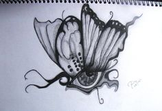 Amazing Butterfly Eye Tattoos Design Idea