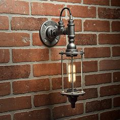 A handmade industrial chic sconce that is sure to add a truly charming accent to any home. This unique and re-imagined blend of metal pipe fittings and threaded rod create a unique light that will surely add a warm and welcome atmosphere to your home or business. This is sure to become the