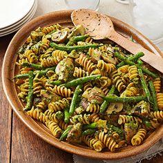 Rotini with Walnut-Basil Pesto