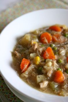 slow cooker chicken stew - use arrowroot for the flour