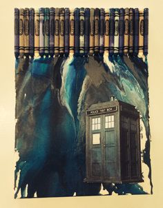 My first pin! :) Doctor Who crayon art