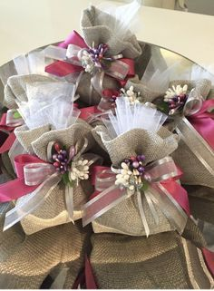 "Amazon.com: Burlap Bag with Drawstring 5"" x 7"" for Rustic Wedding 10 Pack - 10 Kraft Tags - Favors for Your Party – Tiny Gift Bags – Pouches Sacks for Christmas – DIY - Jewelry - Reusable Money – Arts & Crafts: Kitchen & Dining"
