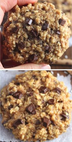 Clean-Eating Almond Joy Oatmeal Cookies -- these skinny cookies don't taste healthy at all! You'll never need another oatmeal cookie recipe again!