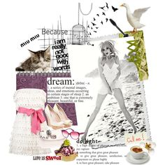 A fashion look from April 2012 featuring mini dress, Miu Miu and Jack Wills. Browse and shop related looks. Stages Of Sleep, Personalized Books, Book Of Life, Polyvore, Image, Beautiful