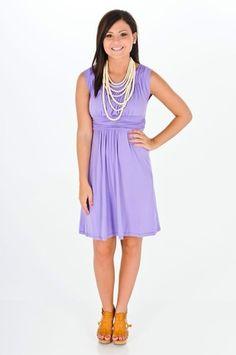 Exclusive Sash Flow Strapless Lavender Dress | Lavender dresses ...