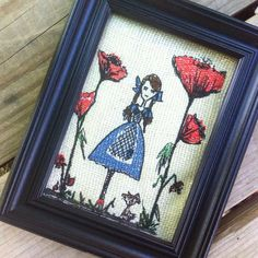 """Embroidery Digital File """"Dorothy in the poppy fields"""""""