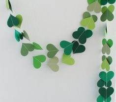 Hey, I found this really awesome Etsy listing at https://www.etsy.com/listing/200120909/green-heart-paper-garland-10ft-nursery