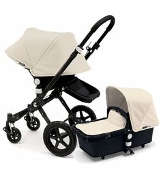 Bugaboo Cameleon 3 Stroller, Extendable Canopy - All Black / Off White