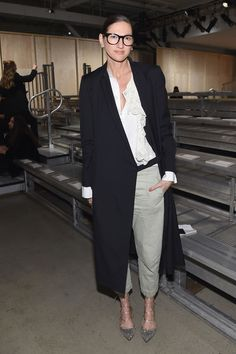 Jenna Lyons Photos: DKNY Women's - Front Row - Fall 2016 New York Fashion Week: The Shows