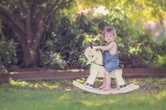 Summer Toddler Photography | Rocking Horse
