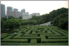 Nicely designed hedge maze from Asia but not sure where...
