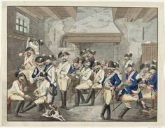 Uniformed  Netherlands cavalry. 1787-90
