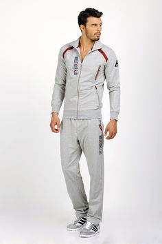 Gri Eşofman Takımı Swag Outfits, Sport Outfits, Fashion Outfits, Mens Athletic Fashion, Mens Fashion, Sports Tracksuits, Track Suit Men, Mens Activewear, Coat Patterns
