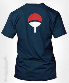 Uchiha Clan symbol crest - gift idea for cosplay anime fan Itachi Sasuke Naruto Japanese ninja otaku icon costume tshirt t-shirt tee shirt
