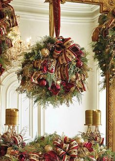 Deck your halls this Christmas with the elegant Plaza Pre-decorated Greenery Collection that boasts a an abundant mixture of lifelike greenery adorned with festive ribbon, natural elements such as pinecones and other beautiful embellishments.