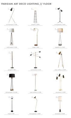 Emily Henderson Parisian Art Deco Lighting Floor Roundup