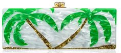 Edie Parker Palm Tree Clutch